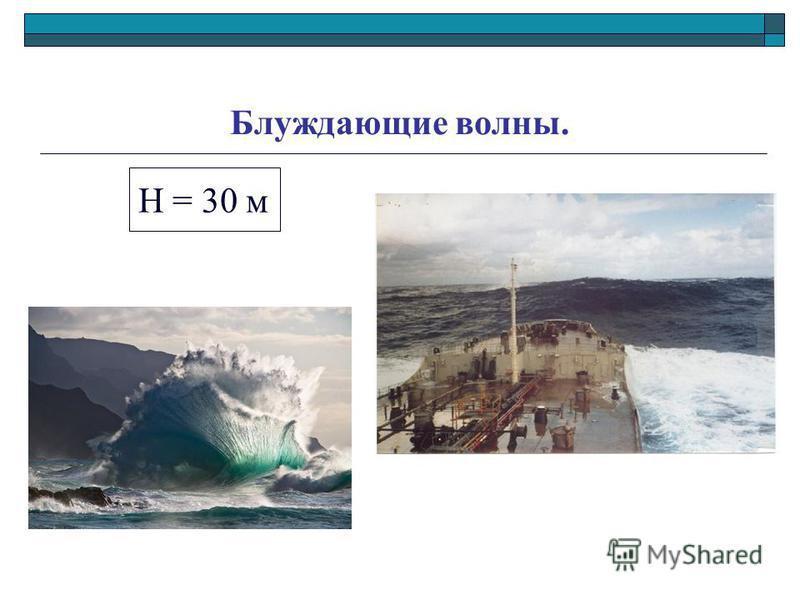 Блуждающие волны. H = 30 м