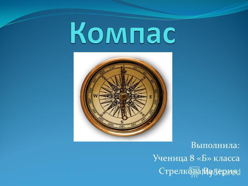 Выполнила: Ученица 8 «Б» класса Стрелкова Валерия.