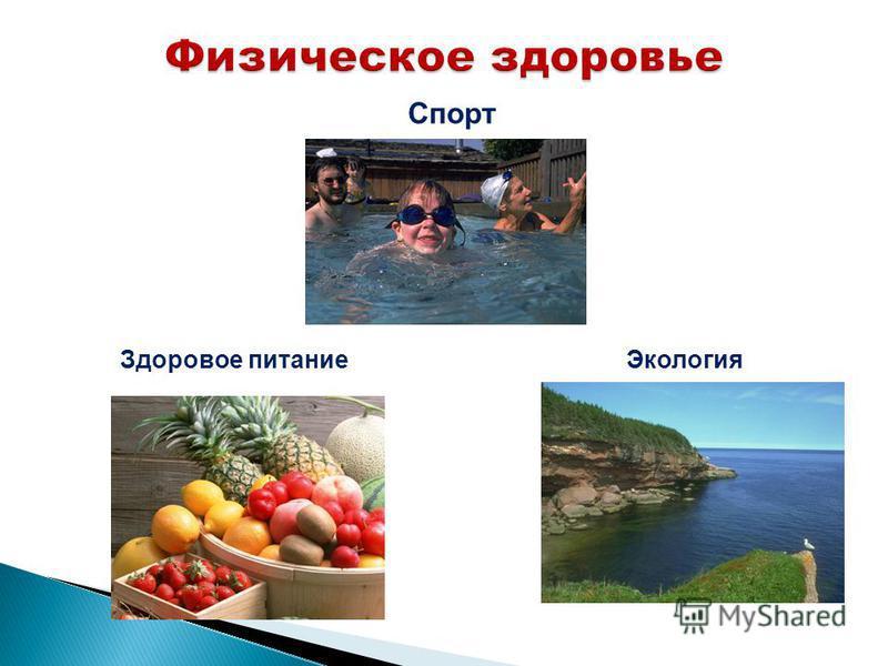 Спорт Здоровое питание Экология