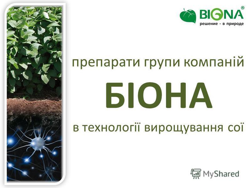 препарати групи компаній БІОНА в технології вирощування сої