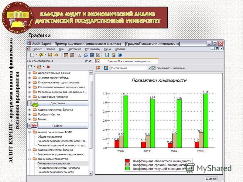 AUDIT EXPERT - программа анализа финансового состояния предприятия Графики