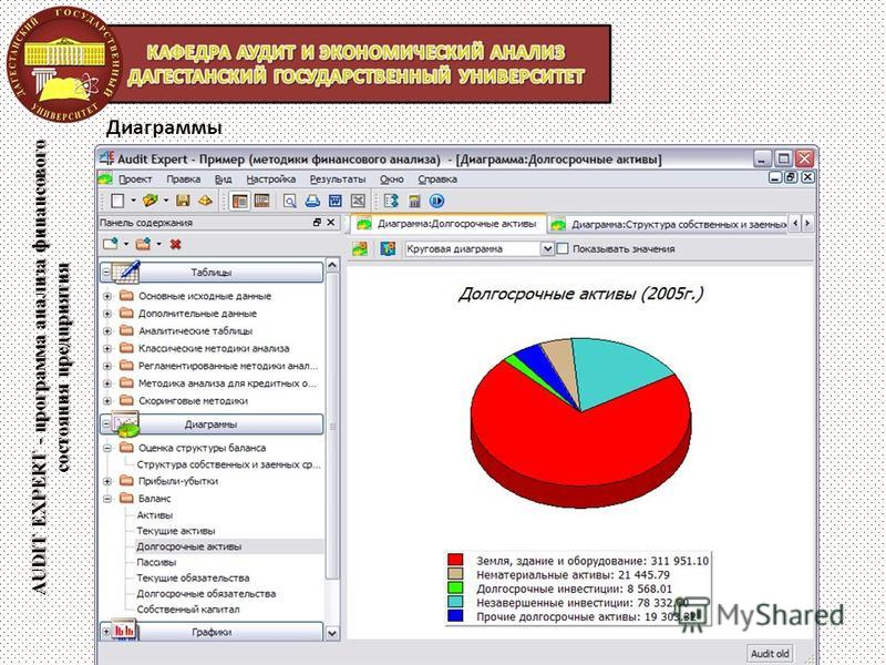 AUDIT EXPERT - программа анализа финансового состояния предприятия Диаграммы