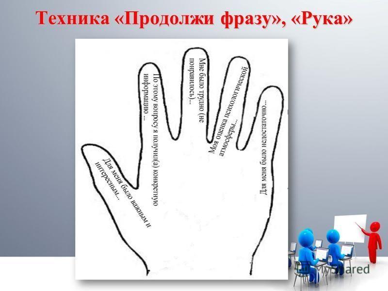 Tехника «Продолжи фразу», «Рука»