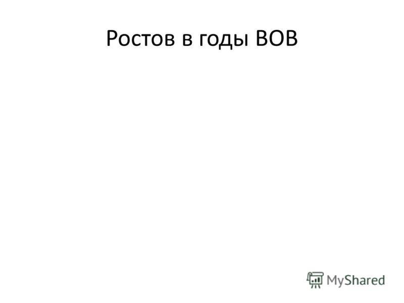 Ростов в годы ВОВ