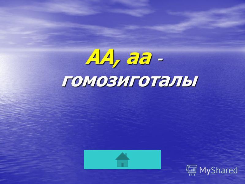 АА, аа - гомозиготалы