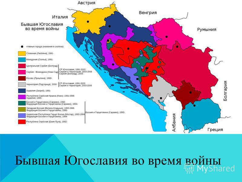 Бывшая Югославия во время войны