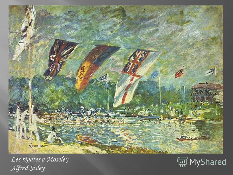 Les régates à Moseley Alfred Sisley