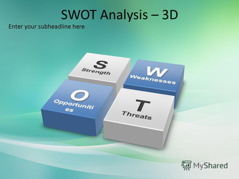 SWOT Analysis – 3D Enter your subheadline here