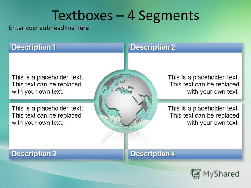 Textboxes – 4 Segments