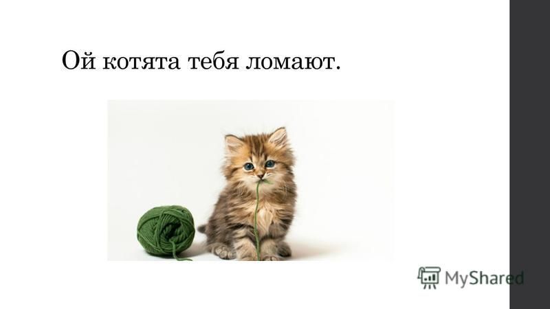Ой котята тебя ломают.