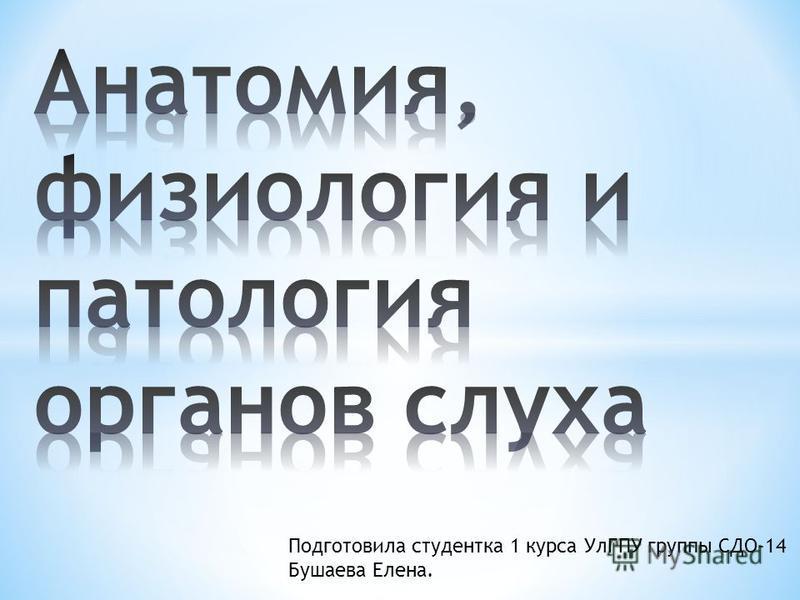 Подготовила студентка 1 курса УлГПУ группы СДО-14 Бушаева Елена.