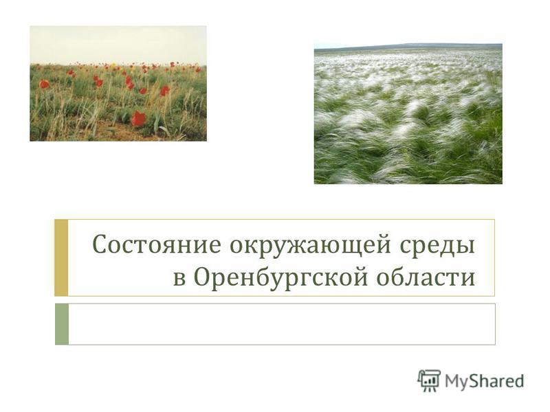 Состояние окружающей среды в Оренбургской области