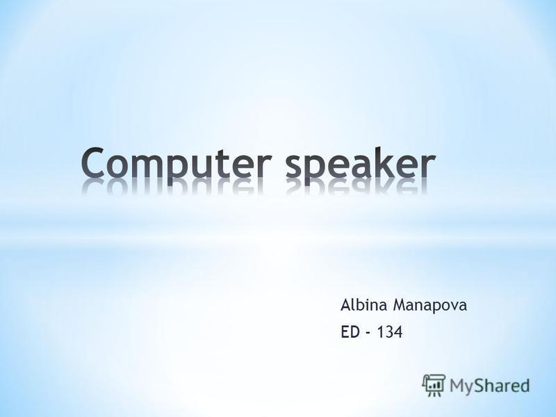 Albina Manapova ED - 134