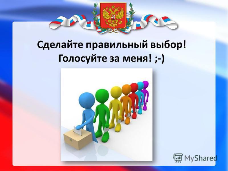 Сделайте правильный выбор! Голосуйте за меня! ;-)