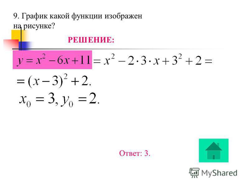 8. Решите неравенство РЕШЕНИЕ: х - 0,5 0,5 ++ - Ответ: 2.
