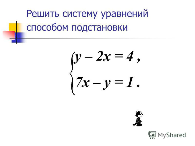 Методы решения систем уравнений способ подстановки способ сложения графический способ