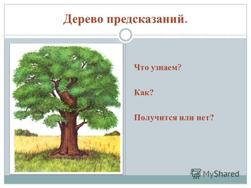 Дерево предсказаний. Что узнаем ? Как? Получится или нет?