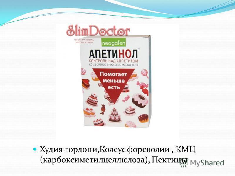 Худия гордониии,Колеус форсколии, КМЦ (карбоксиметилцеллюлоза), Пектины