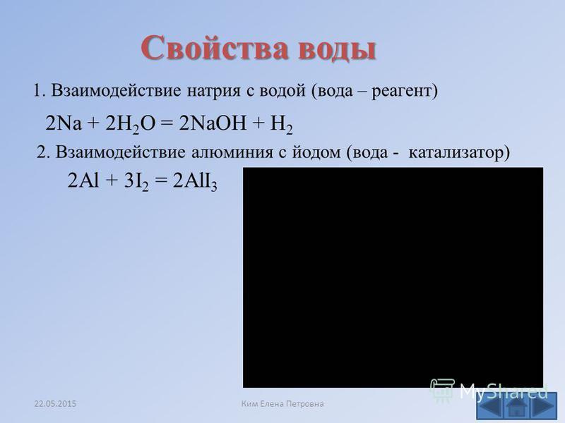 O...... H. H. Химическая связь в молекуле воды 22.05.2015Ким Елена Петровна