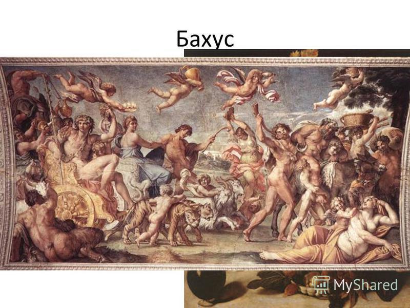 Бахус Бахус - бог - покровитель виноградников, виноделия и вина, почитавшийся под именем Либера. (Либер - по-латыни означает Свободный. По-видимому, это название содержало намек на некоторую свободу и распущенность проводившихся в честь Бахуса праздн