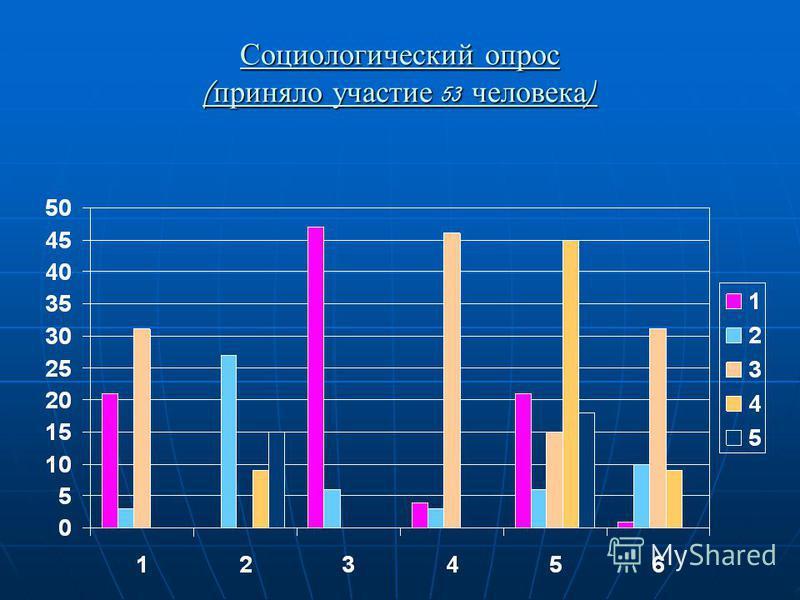 Социологический опрос ( приняло участие 53 человека )