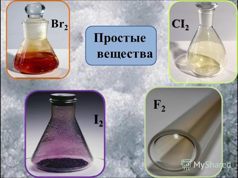 CI 2 Br 2 I2I2I2I2 F2F2 Простые вещества