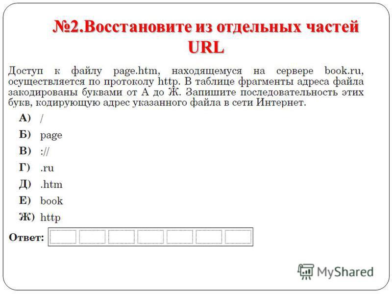 2. Восстановите из отдельных частей URL