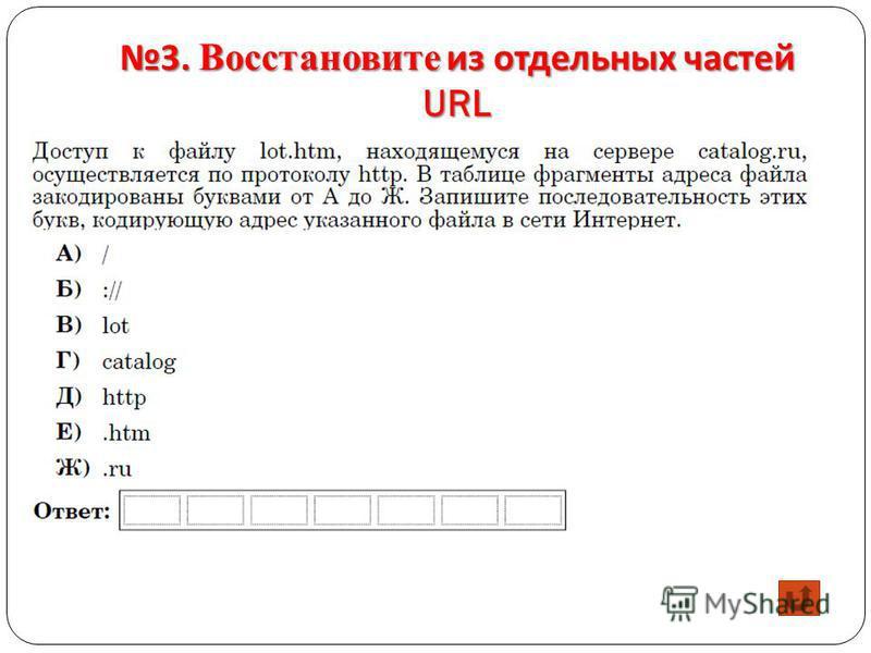 3. Восстановите из отдельных частей URL