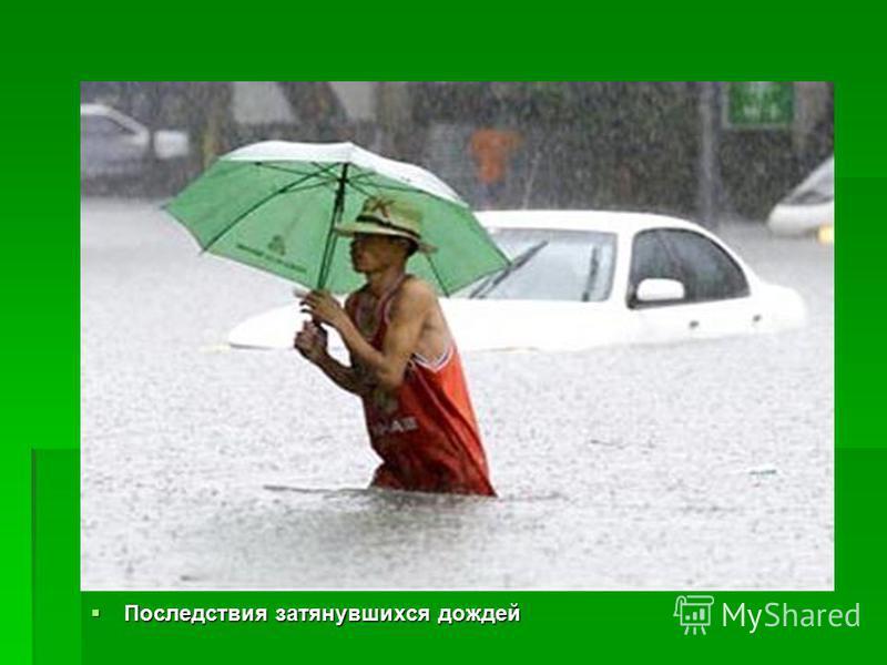 Последствия затянувшихся дождей Последствия затянувшихся дождей