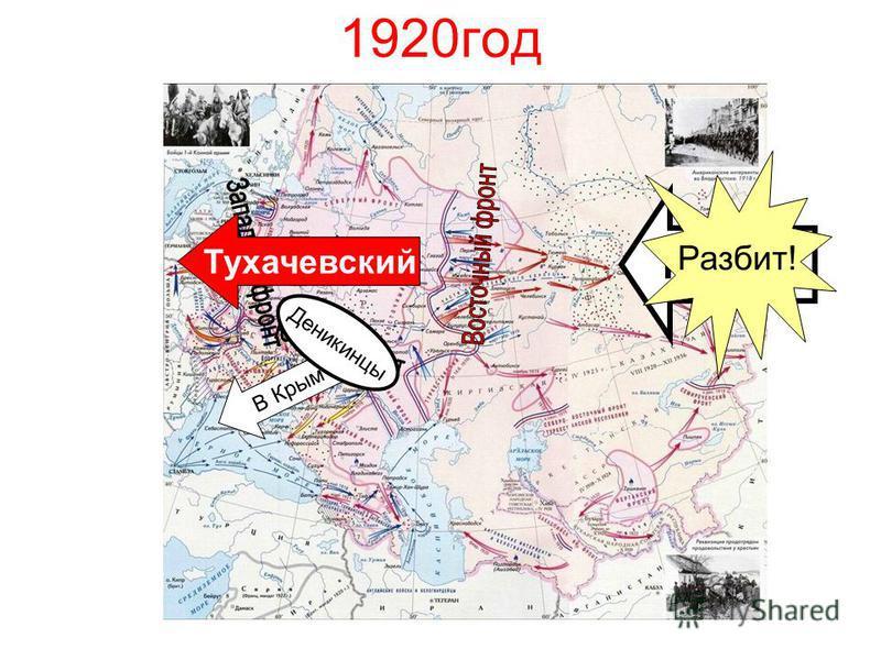1920 год Колчак В Крым Деникинцы Разбит! Тухачевский