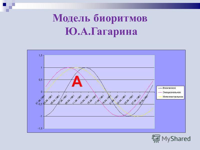 Модель биоритмов Ю.А.Гагарина