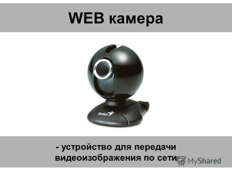 WEB камера - устройство для передачи видеоизображения по сети