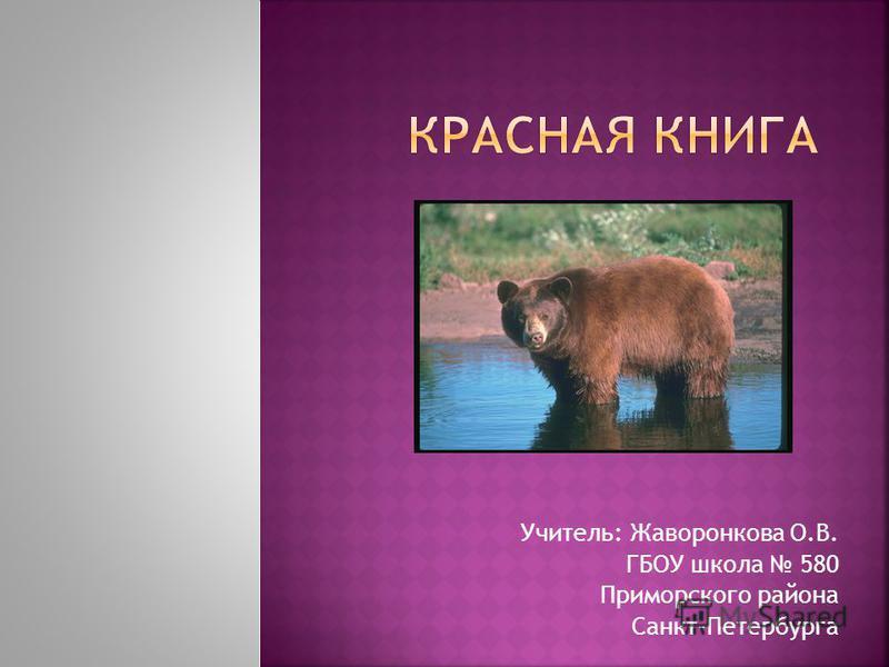 Учитель: Жаворонкова О.В. ГБОУ школа 580 Приморского района Санкт-Петербурга