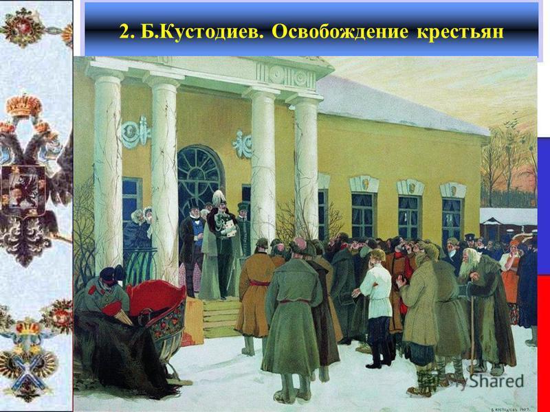 2. Б.Кустодиев. Освобождение крестьян