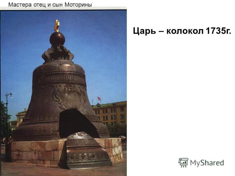 Мастера отец и сын Моторины Царь – колокол 1735 г.
