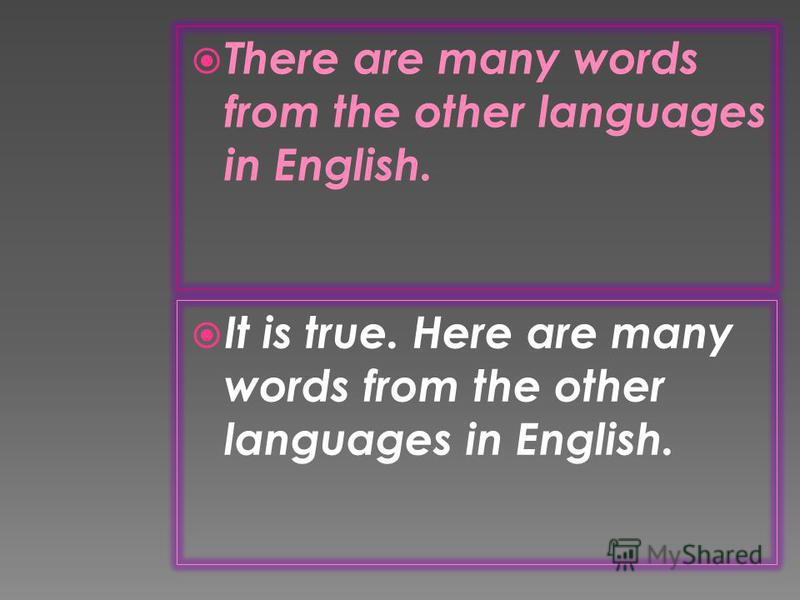 English has taken the position of the international language. It is true. English has taken the position of the international language.