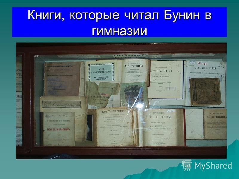 Книги, которые читал Бунин в гимназии