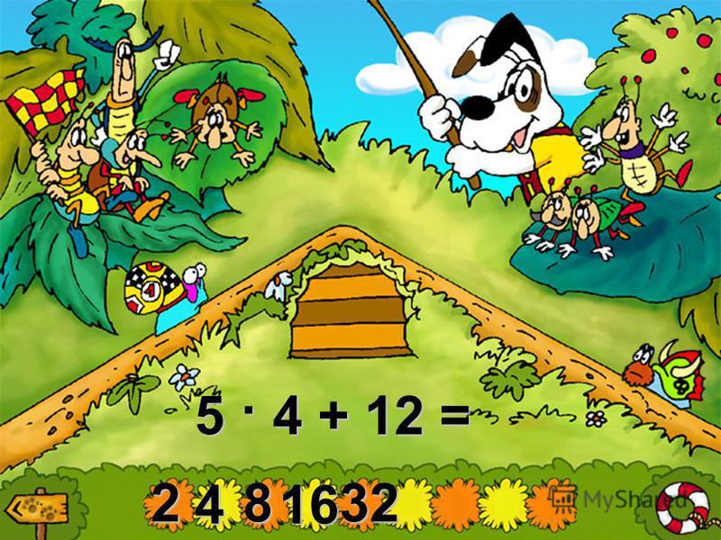2 4816 1 · (30 + 2) – 4 · 4 =
