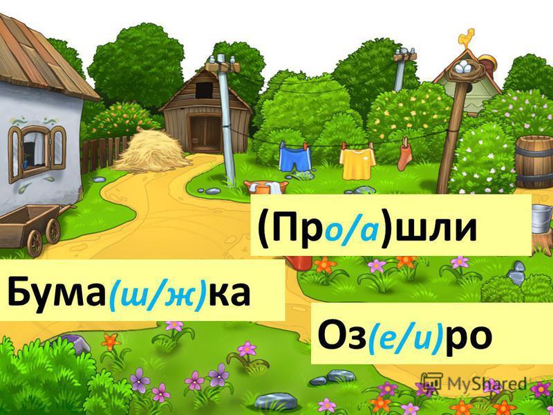 Бума (ш/ж) ка Оз (е/и) ро (Пр о/а )шли