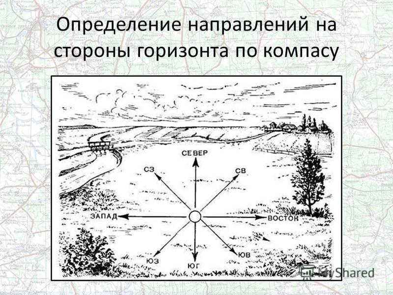 Определение направлений на стороны горизонта по компасу