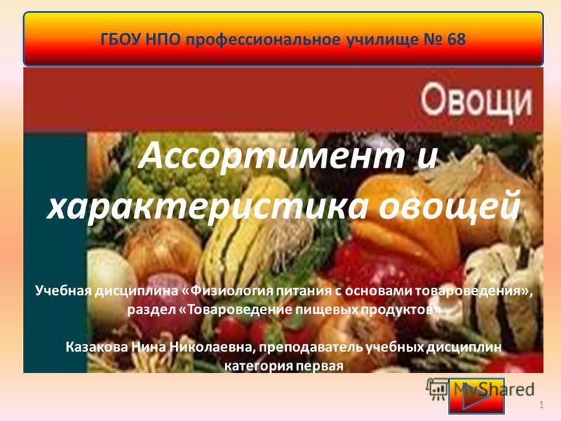 ГБОУ НПО профессиональное училище 68 1