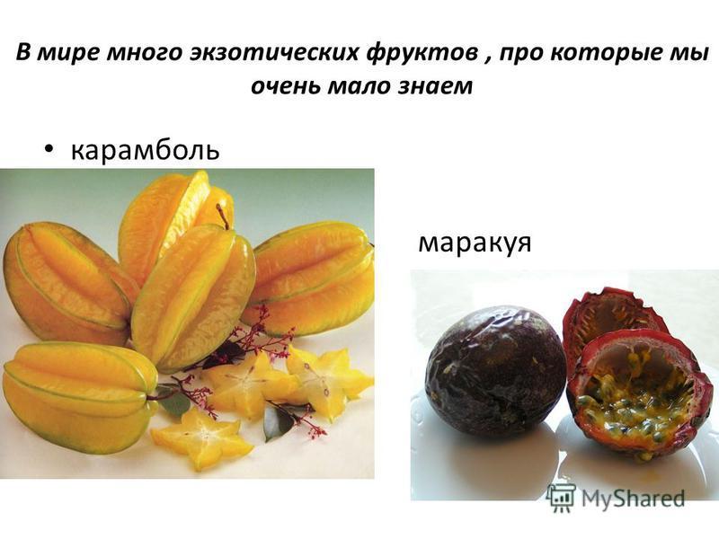 В мире много экзотических фруктов, про которые мы очень мало знаем карамболь маракуя