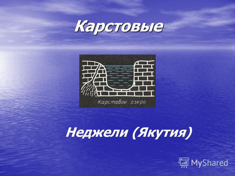Карстовые Неджели (Якутия)