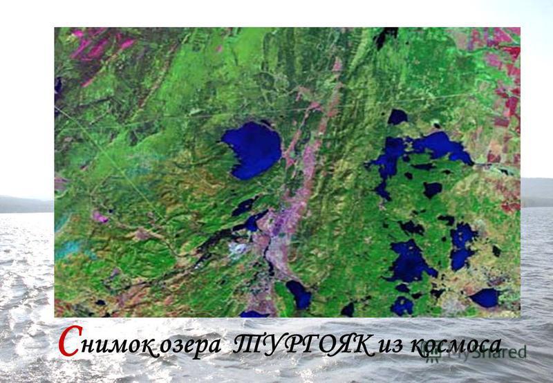 С нимок озера ТУРГОЯК из космоса