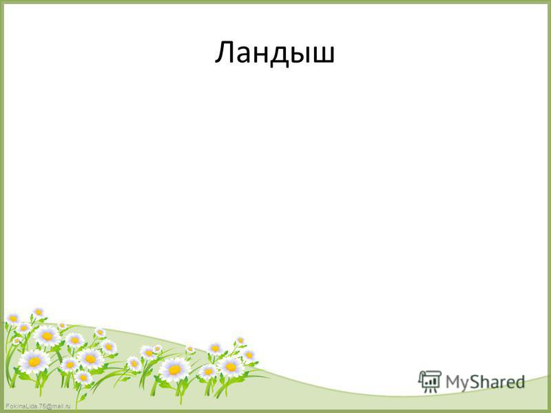 FokinaLida.75@mail.ru Ландыш