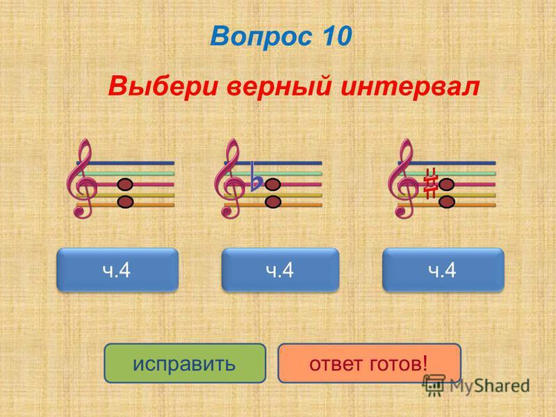 Вопрос 10 Выбери верный интервал ч.4 исправить ответ готов!