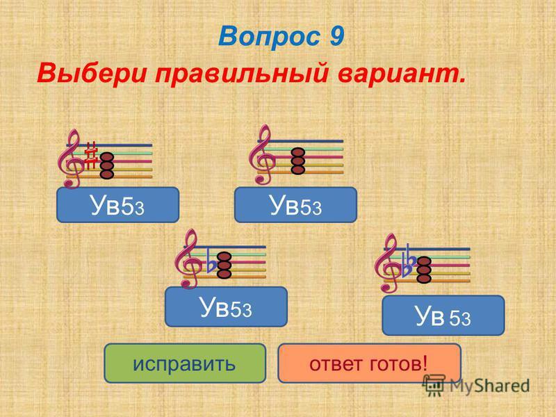 Вопрос 9 Выбери правильный вариант. Ув 5 3 Ув 5 3 Ув 5 3 Ув 5 3 исправить ответ готов!