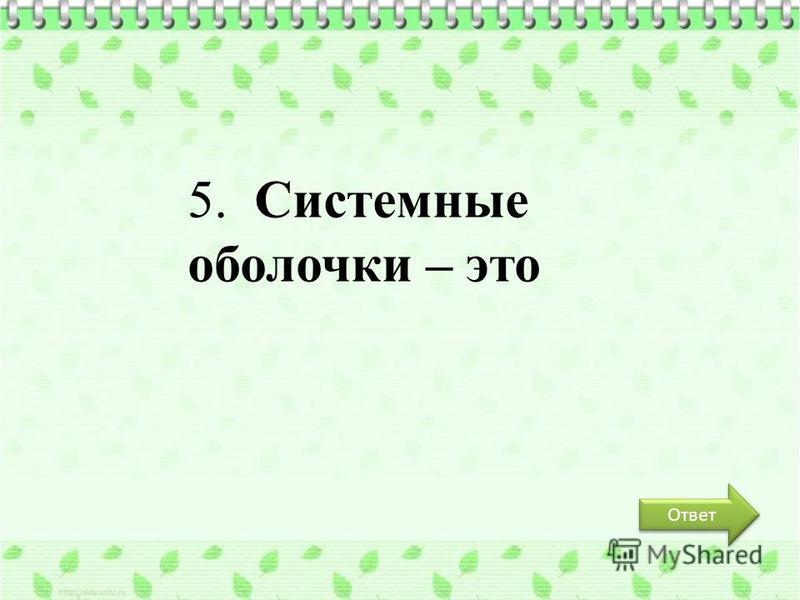 Ответ 5. Системные оболочки – это
