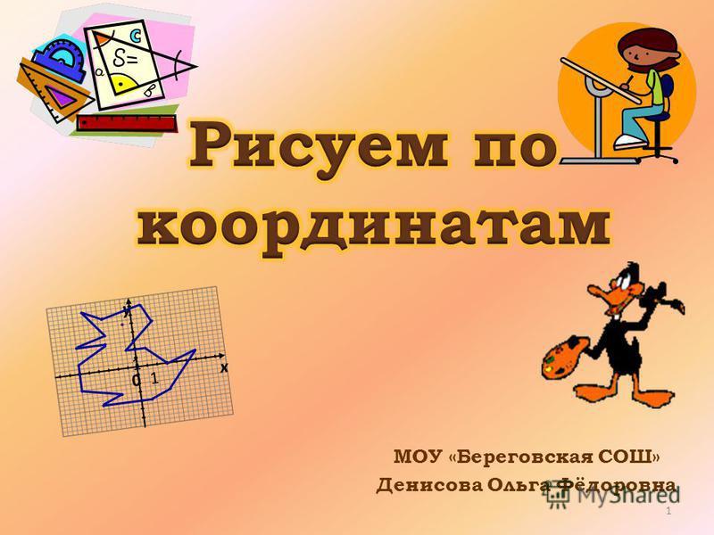 МОУ «Береговская СОШ» Денисова Ольга Фёдоровна х y 01 1 1