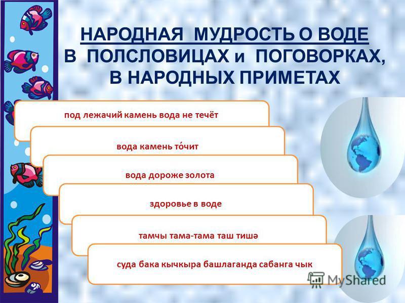 НАРОДНАЯ МУДРОСТЬ О ВОДЕ В НАРОДНЫХ СКАЗКАХ Русские волшебные сказки